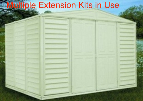 04212 extension kit for woodbridge shed - Garden Sheds Vinyl