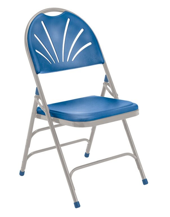 Folding Chairs Plastic 4-pack 1100 series nps ergonomic fan back plastic folding chair
