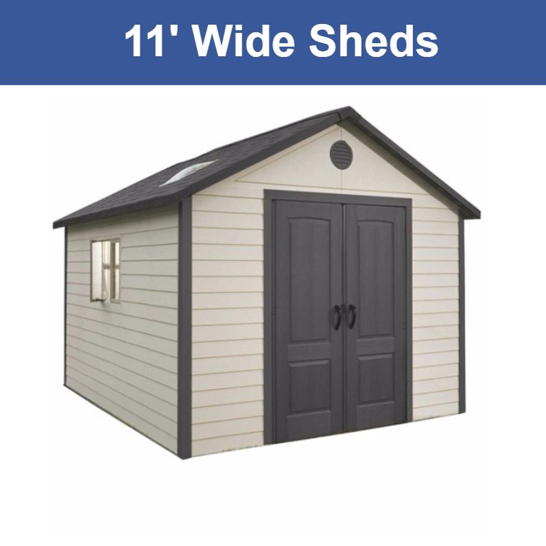 11 ft. Wide Storage Sheds