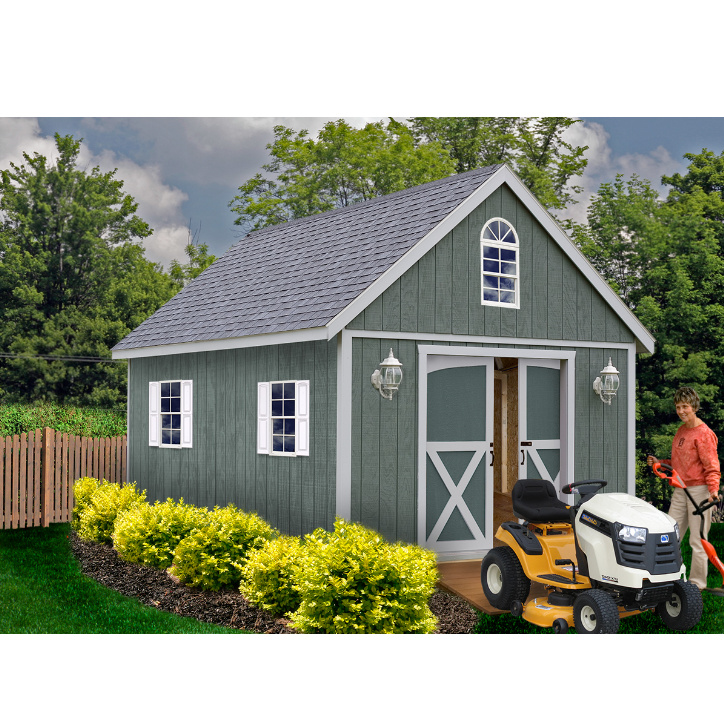 Best barns belmont 12x16 wooden storage shed by best barn for Barn homes kits for sale