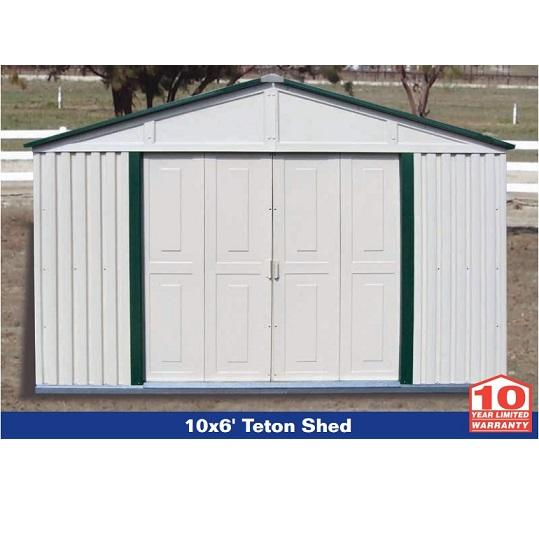 Duramax storage sheds 10x6 20221 teton budget series for Vinyl storage sheds
