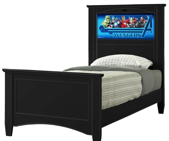 lifetime 20277 canterbury twin black lightheaded bed new