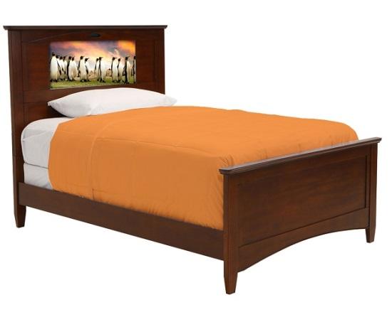 lifetime 20289 canterbury full chestnut lightheaded bed