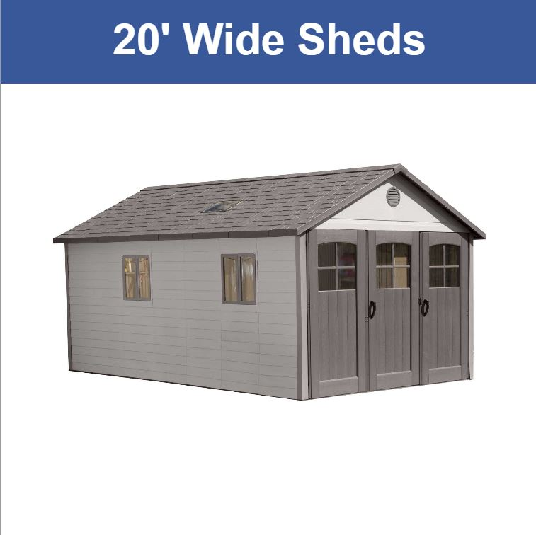 20 ft. Wide  Storage Sheds