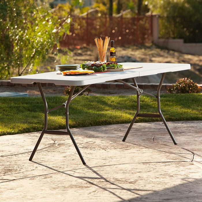Lifetime 25011 Fold In Half 5 Ft Table On Sale With Free