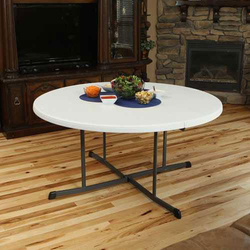 Lifetime Fold In Half Folding Table 25402 60 Inch White