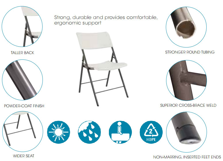 lifetime folding chairs 32 pack with cart