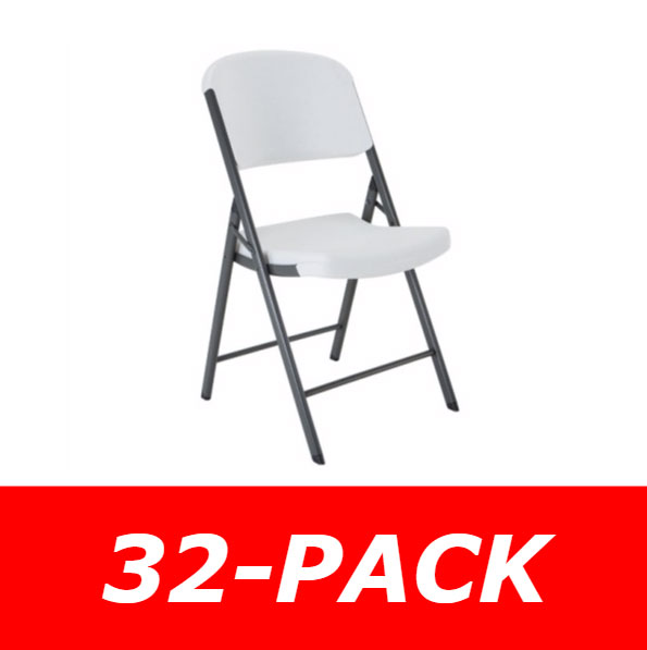 Lifetime Plastic Folding Chairs (32 Pack)
