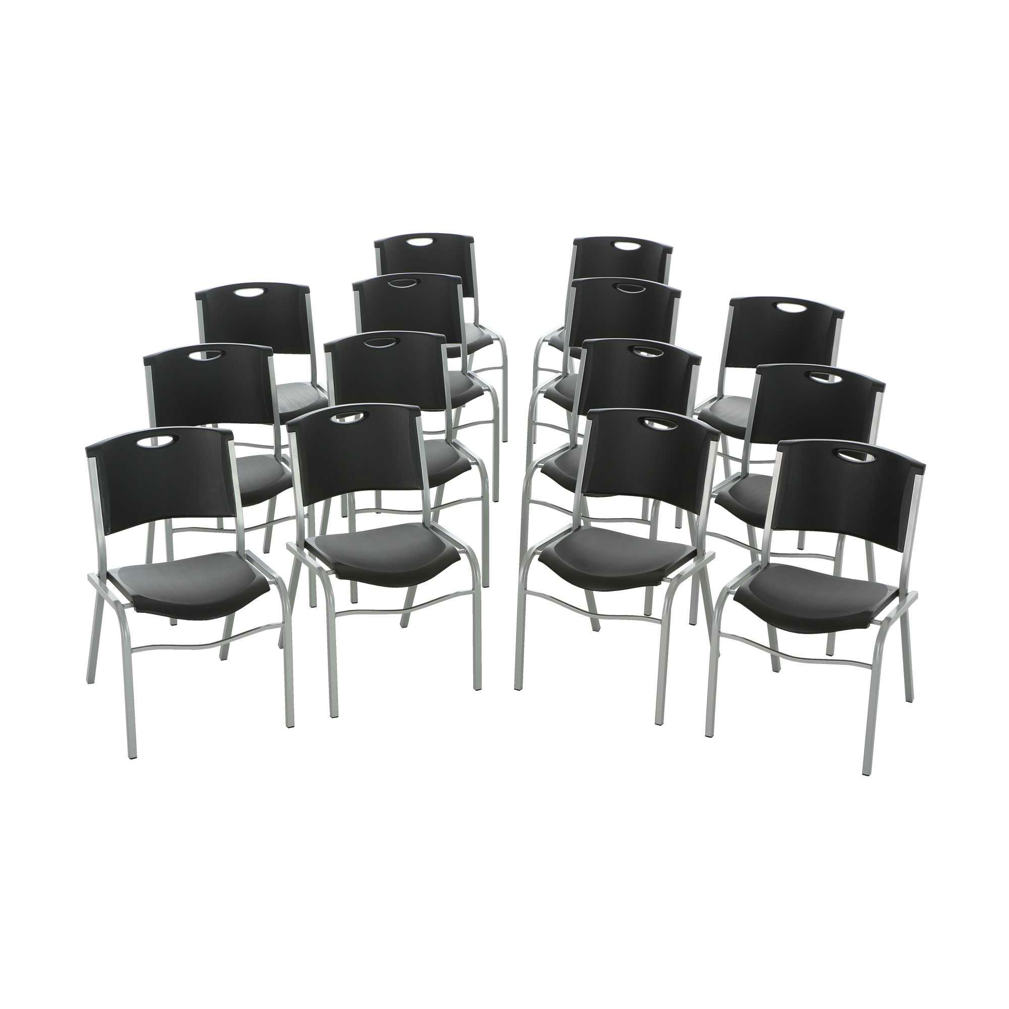 Lifetime 2830 Lifetime Black Stacking Chair on Sale & Free Shipping