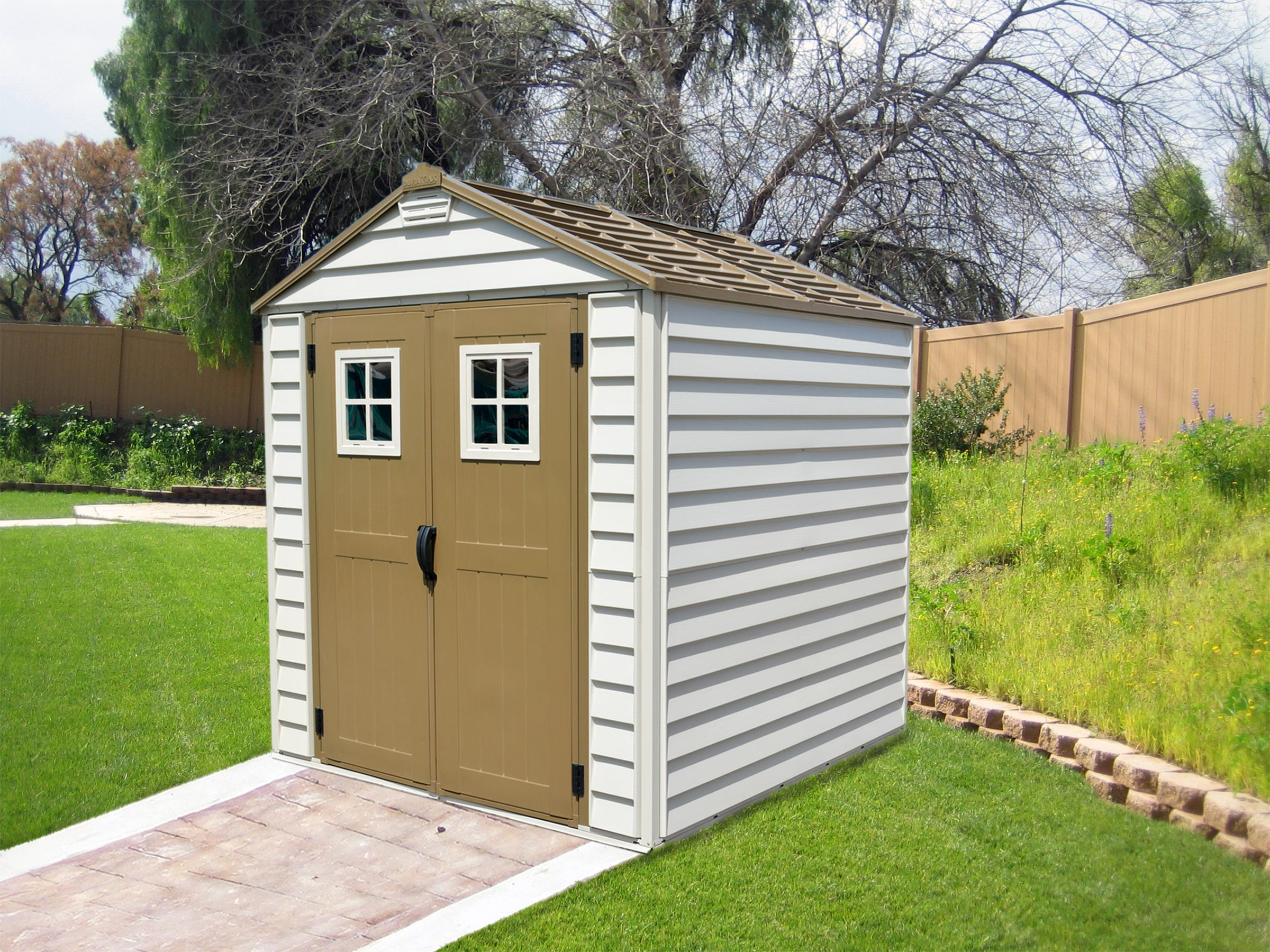 All Weather Boat Sheds : Duramax storemax vinyl storage shed with foundation