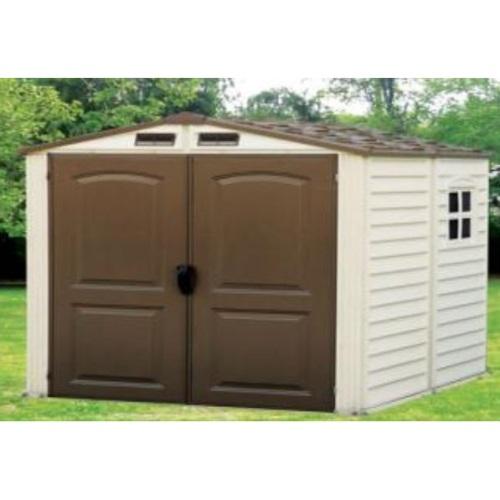 Duramax 30411 storemate vinyl storage shed 6x6 75 9 x 74 for Vinyl storage sheds