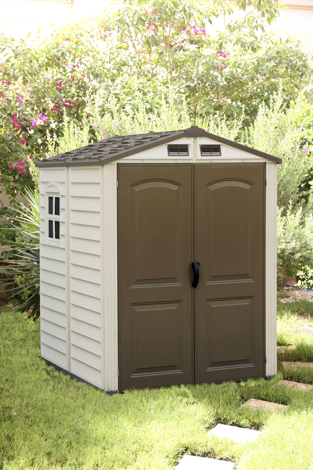 Duramax 30411 storemate vinyl storage shed 6x6 75 9 x 74 for Garden shed 6x6
