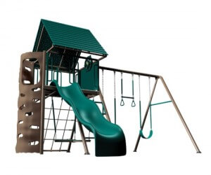 Lifetime Playground Equipment Heavy-Duty Metal Playset with Clubhouse (Earthtone)