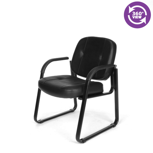 Ofm 503 l guest home furniture desk leather office chair for Home office chairs leather