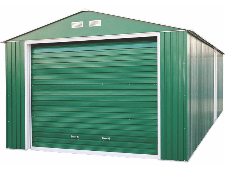 50961 duramax imperial metal garage 12x20 garage shed for Cobertizo para herramientas