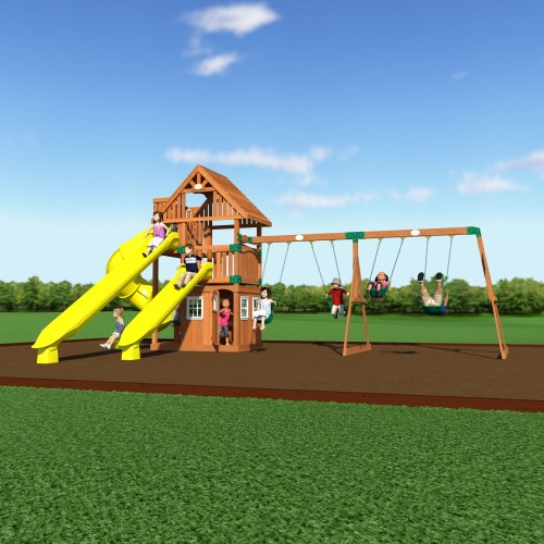 Backyard Gym Sets : Outdoor Play > Backyard Discovery 54293com Traverse Wooden Swing Set