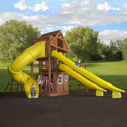 outdoor play backyard discovery 54293com traverse wooden swing set