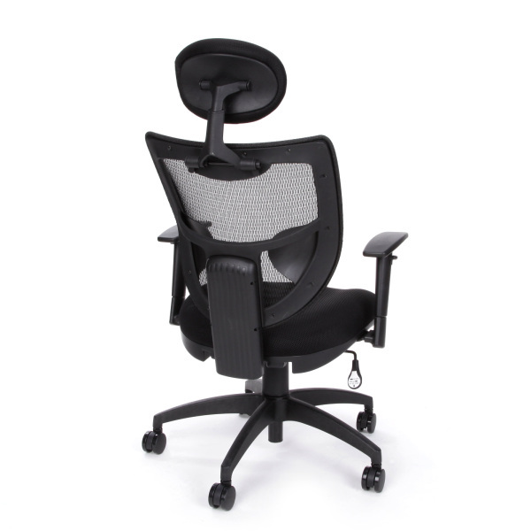 New Ofm 580 Comfy Seat Executive Black Mesh Office Chair With Headrest And Er