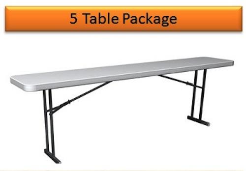 Lifetime Folding Seminar Tables 580177 8 Foot White