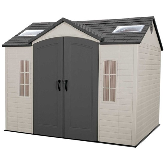 Lifetime garden shed 60005 10x8 outdoor storage shed for Side storage shed