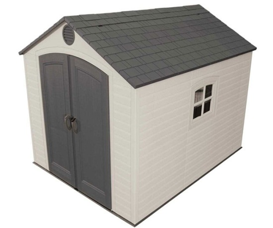Lifetime outdoor shed 60018 8x10 ft storage unit for Sheds and storage units