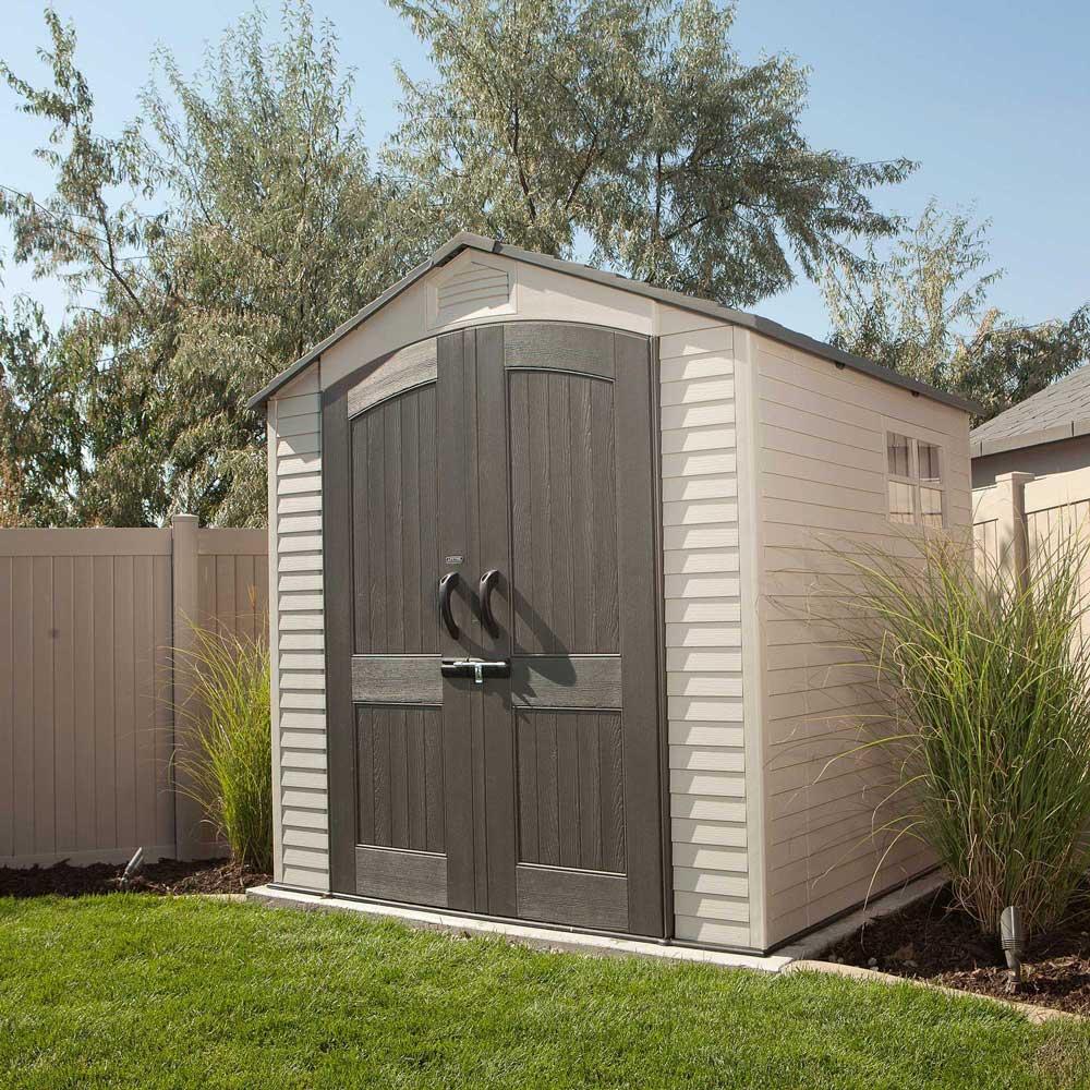 Lifetime 60042 lifetime 7 x 7 shed on sale with fast for Outdoor storage sheds for sale cheap