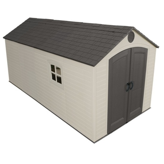 Lifetime storage sheds 60075 plastic storage shed 8 x 15 - Outdoor plastic shed storage ...