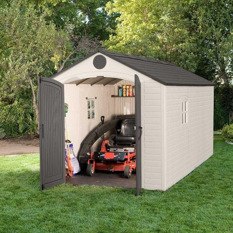lifetime storage sheds 60075 plastic storage shed 8 x 15. Black Bedroom Furniture Sets. Home Design Ideas