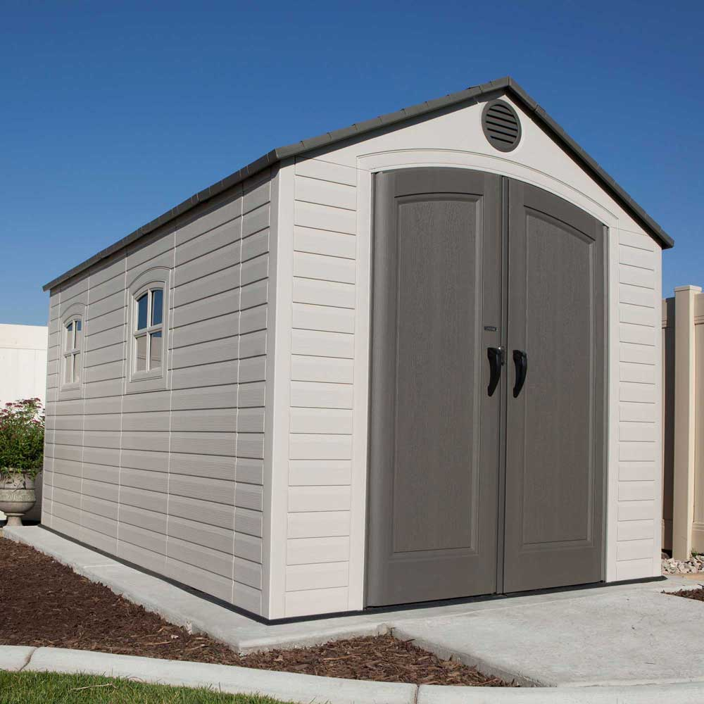 Lifetime storage sheds 60075 plastic storage shed 8 x 15 for Storage house