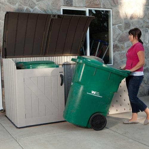 Lifetime Outdoor Garbage Bin 60088 Horizontal Storage Shed