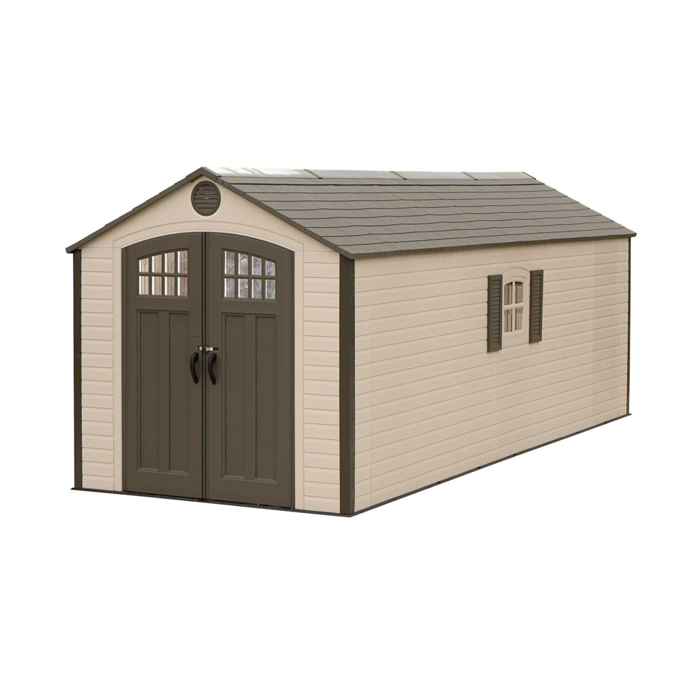 Lifetime 60120 8 x 20 storage shed on sale with fast for Garden shed electrical kit