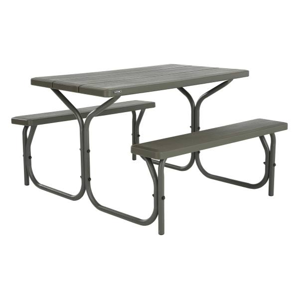 lifetime picnic table brown 60135 4 ft plastic top. Black Bedroom Furniture Sets. Home Design Ideas
