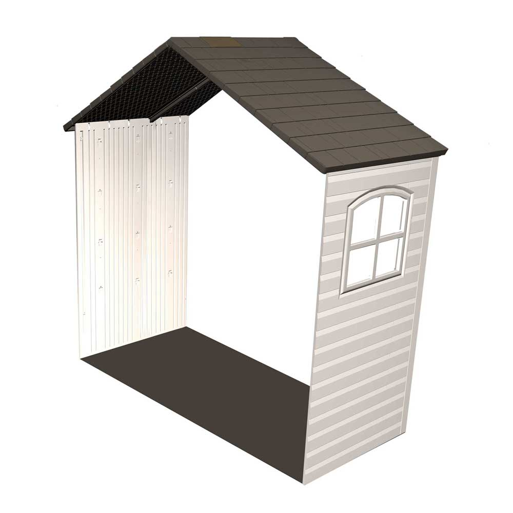 Lifetime storage shed extension kit 60169 2 5 ft kit with for Storage shed kits