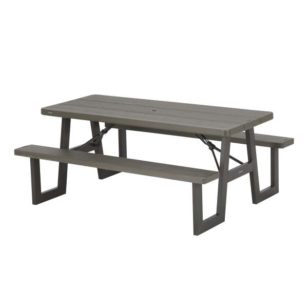 Lifetime folding picnic tables 60233 a frame 6 foot top for 10 ft picnic table