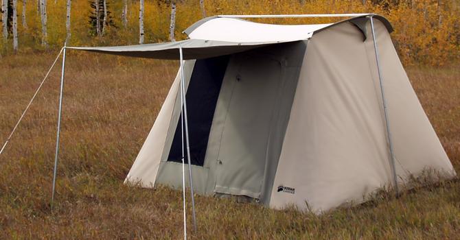 6055 Kodiak 6 Person 10 X 10 Foot Hydra Shield Canvas Tent