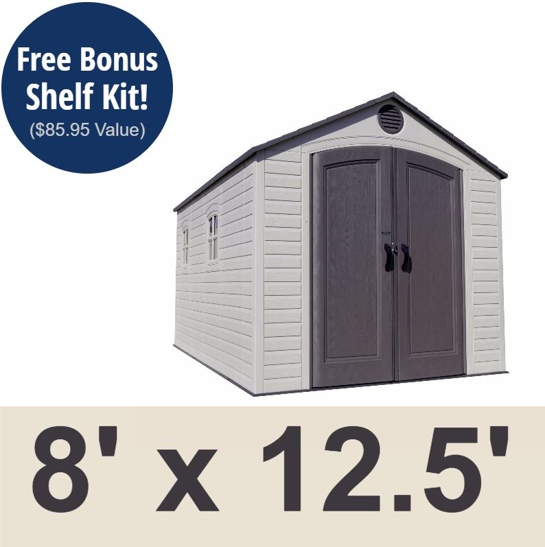 Lifetime 6402 storage shed 8x12 5 on sale with fast and for Overstock free returns