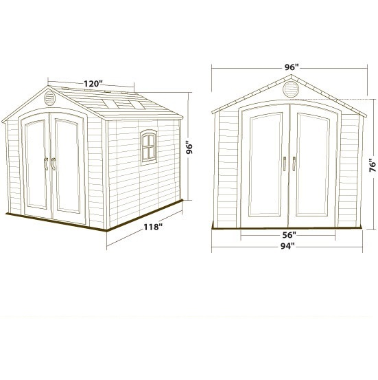 6405 shed dimensions