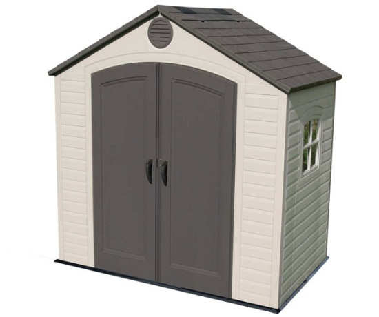 Lifetime shed 6406 8 ft x 5 ft outdoor plastic storage sheds - Outdoor plastic shed storage ...