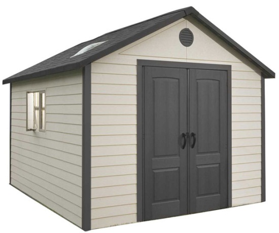 New lifetime 6415 11 39 x 13 5 39 outdoor storage sheds unit for Sheds and storage units