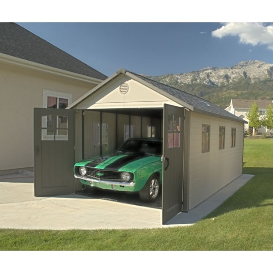 Lifetime 60187 storage shed 11x11 on sale with fast free for Storage house for backyard