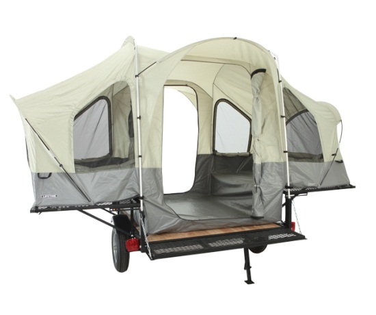 Lifetime Sahara Deluxe Utility Tent Trailer W Ramp And