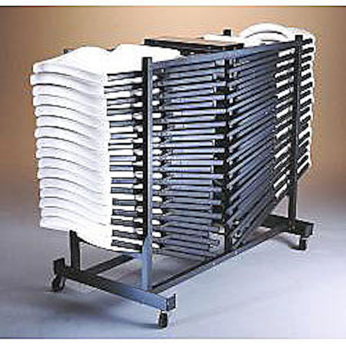 New Lifetime 6525 Folding Chair Wheel Storage Rack Cart