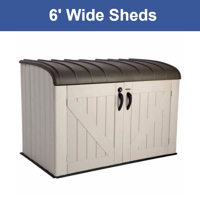 6 ft. Wide Storage Sheds