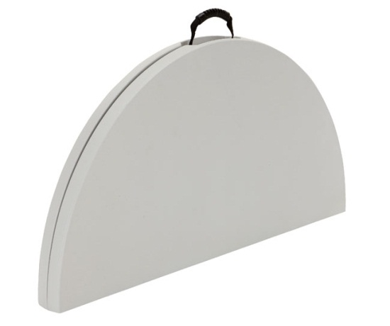 Lifetime Round Tables 280064 48 Inch White Granite Fold In