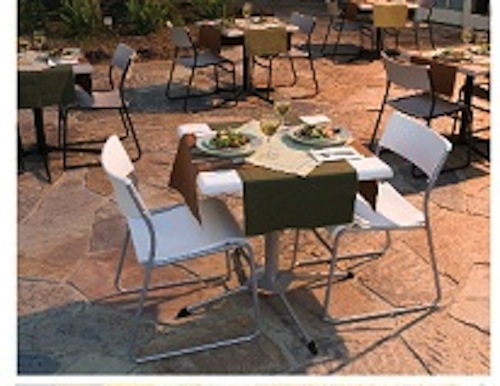 Lifetime Bistro Table 80055 27-inch White Adjustable Height Cafe Table