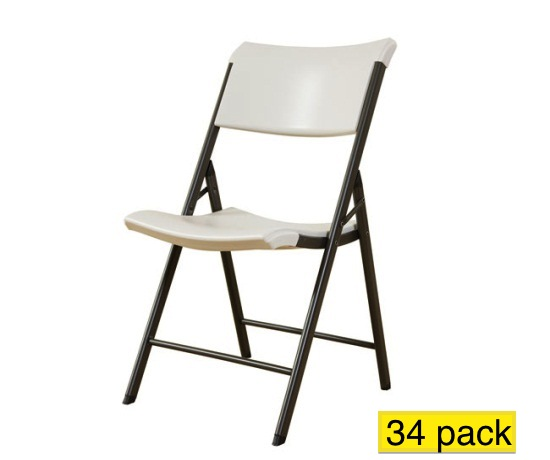 Lifetime Folding Chairs 80097 Almond Contemporary Chair