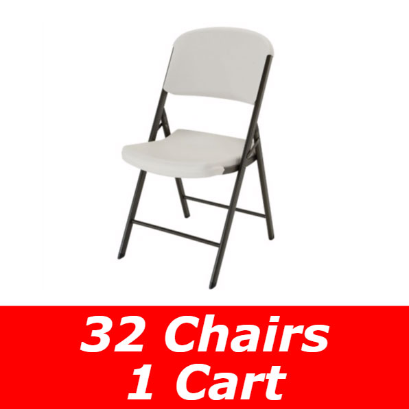 Lifetime 32 Pack Of Chairs Amp Storage Cart Free Shipping