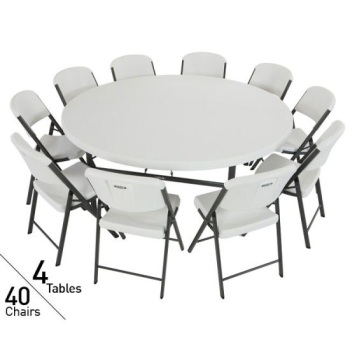 Lifetime Pack Tables Chairs On Sale With Free Shipping - Round tables and chairs