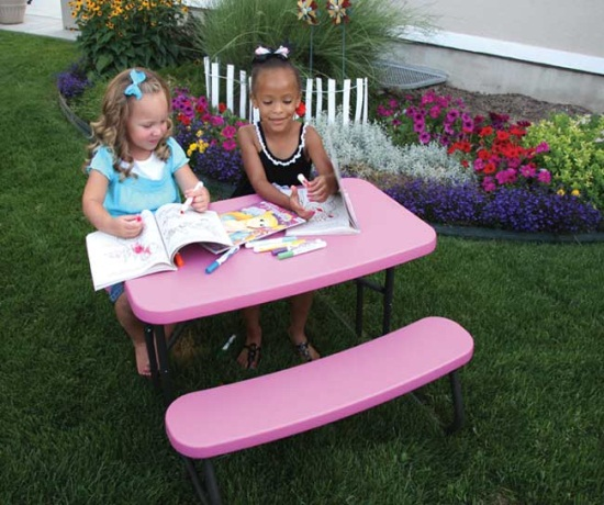 80156 Lifetime Children S Picnic Table Pink Folding Table
