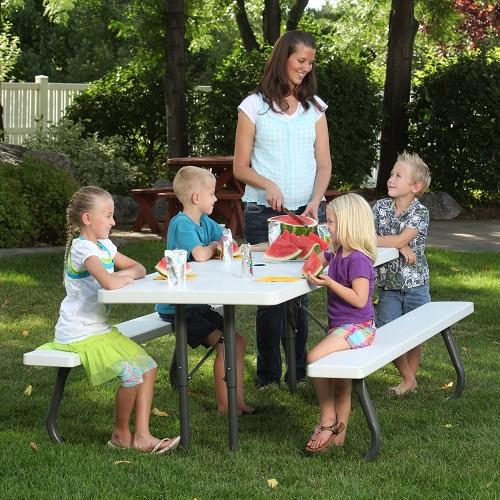 Home > Tables > Lifetime Picnic Tables - 80215 Folding Picnic Table 6 ...